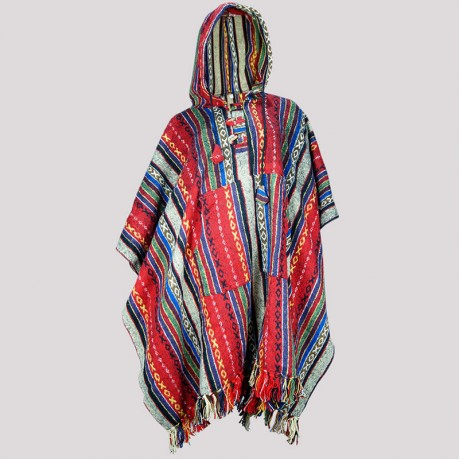 Red Color Gheri Pancho