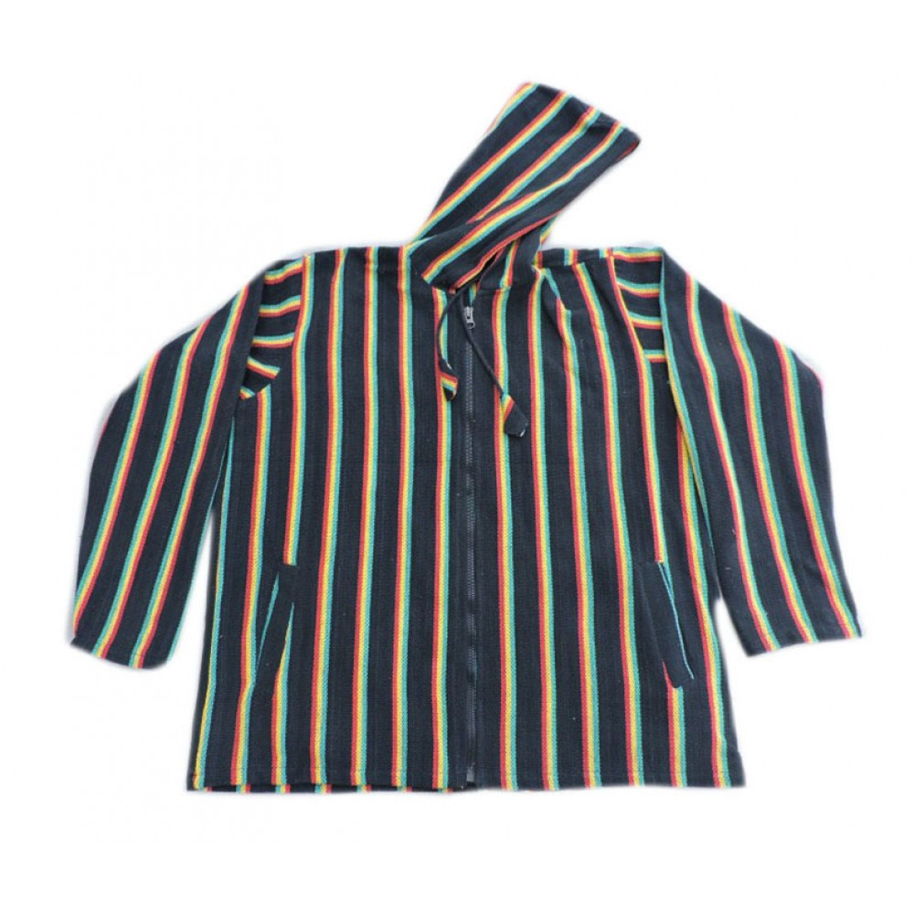 Black Stripe Gheri Summer Jacket