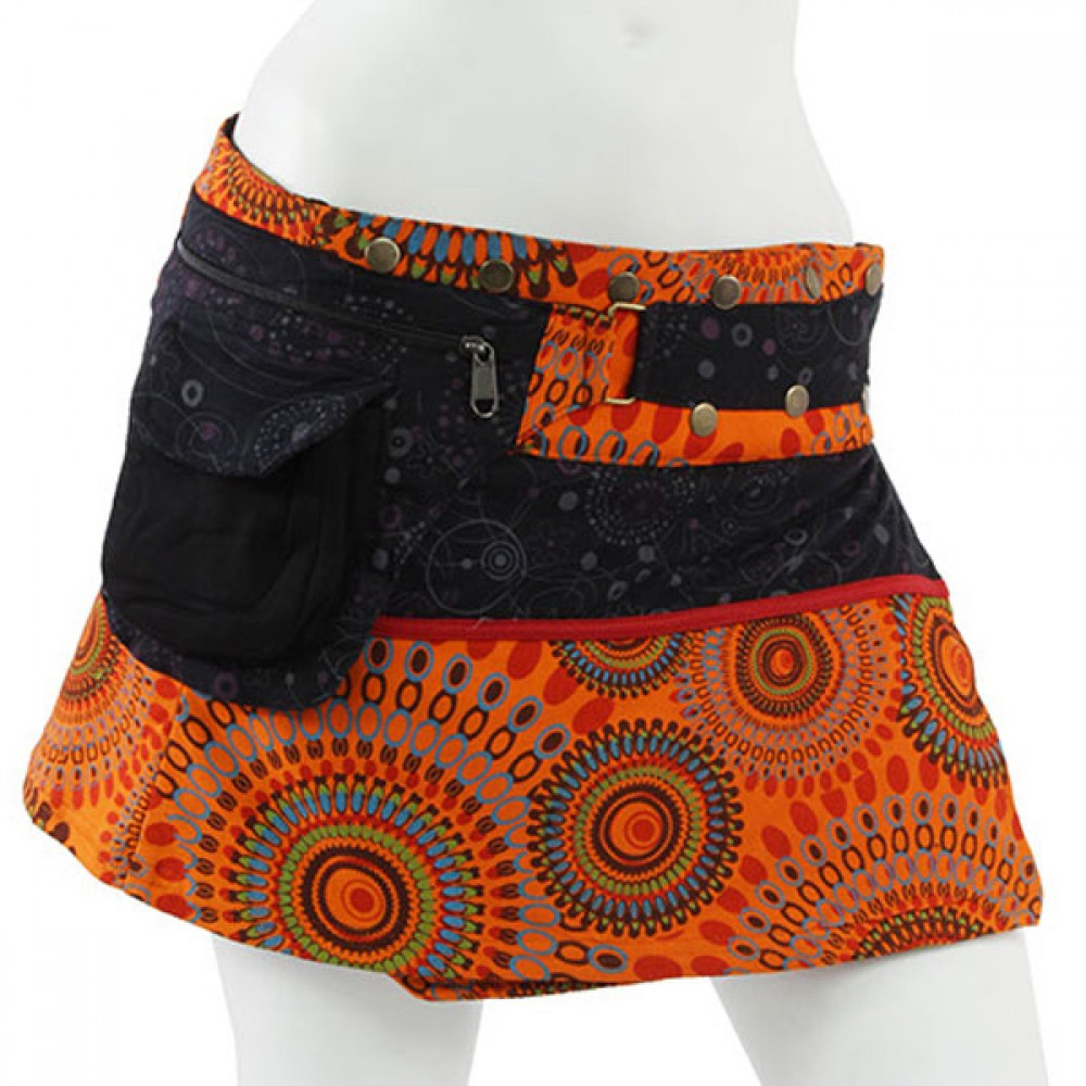 Printed Himlayan Hippie Cotton Skirt
