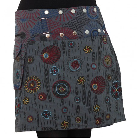 Reversible Hippie Cotton Skirt