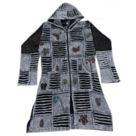 Long Rib Cotton Coat