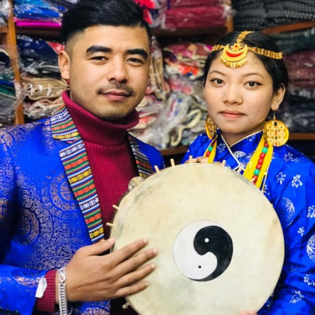 Tamang Man and Woman Dress Set