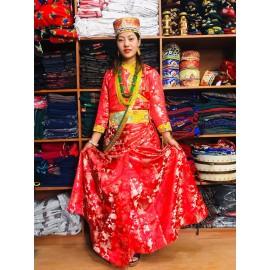 Tamang Cultural Clothing In Nepal Tamang Wedding Dress Ladies And Selo Tamang Dress Set Tamang Lungi Tamang Jewellery Tamang Patuka Tamang Cholo Tamang Mala And Tamang Ghalek