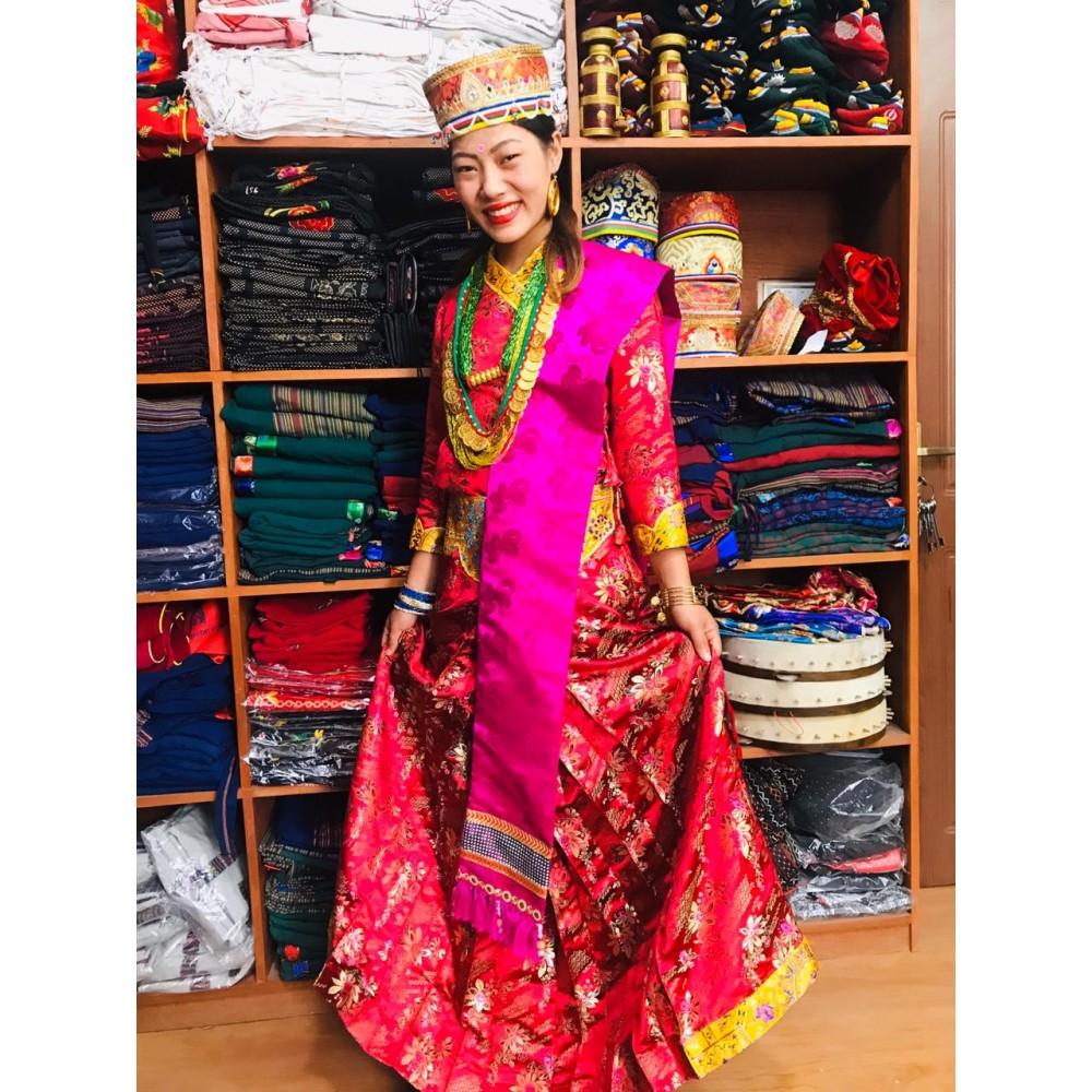 Tamang Wedding Ladies Dress
