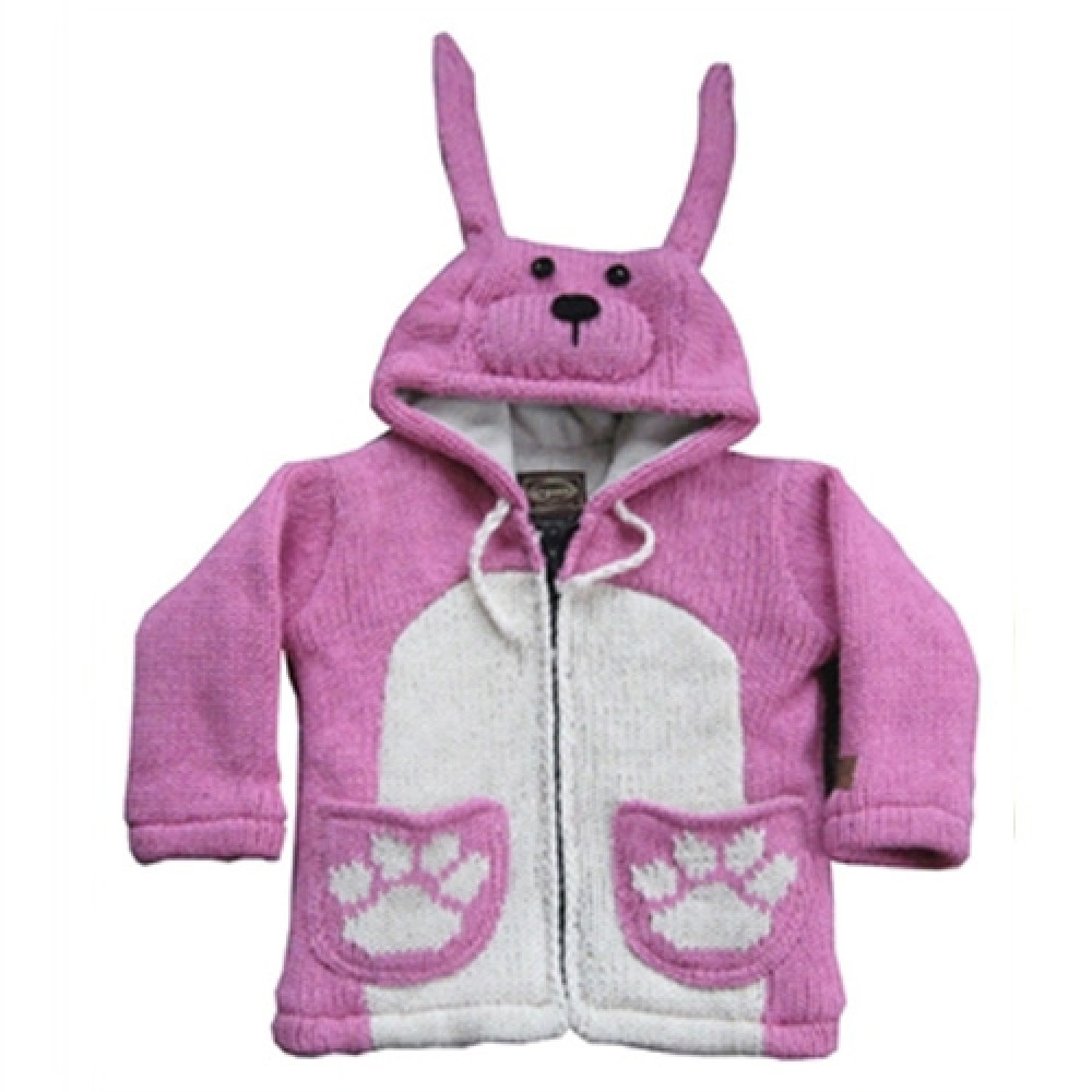 Light Pink Woolen Children Jacket