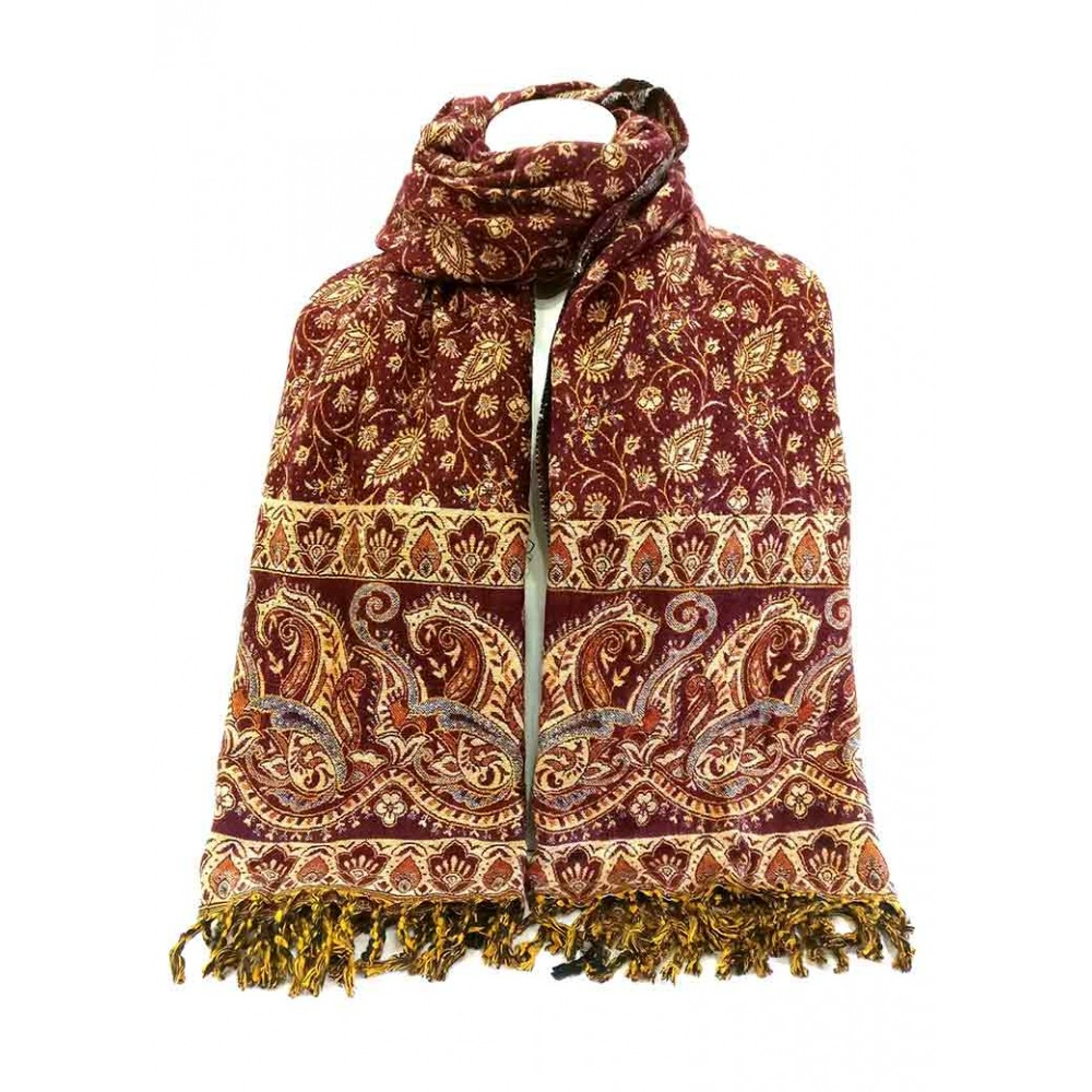Handmade Woolen Peacock Printed Shawl