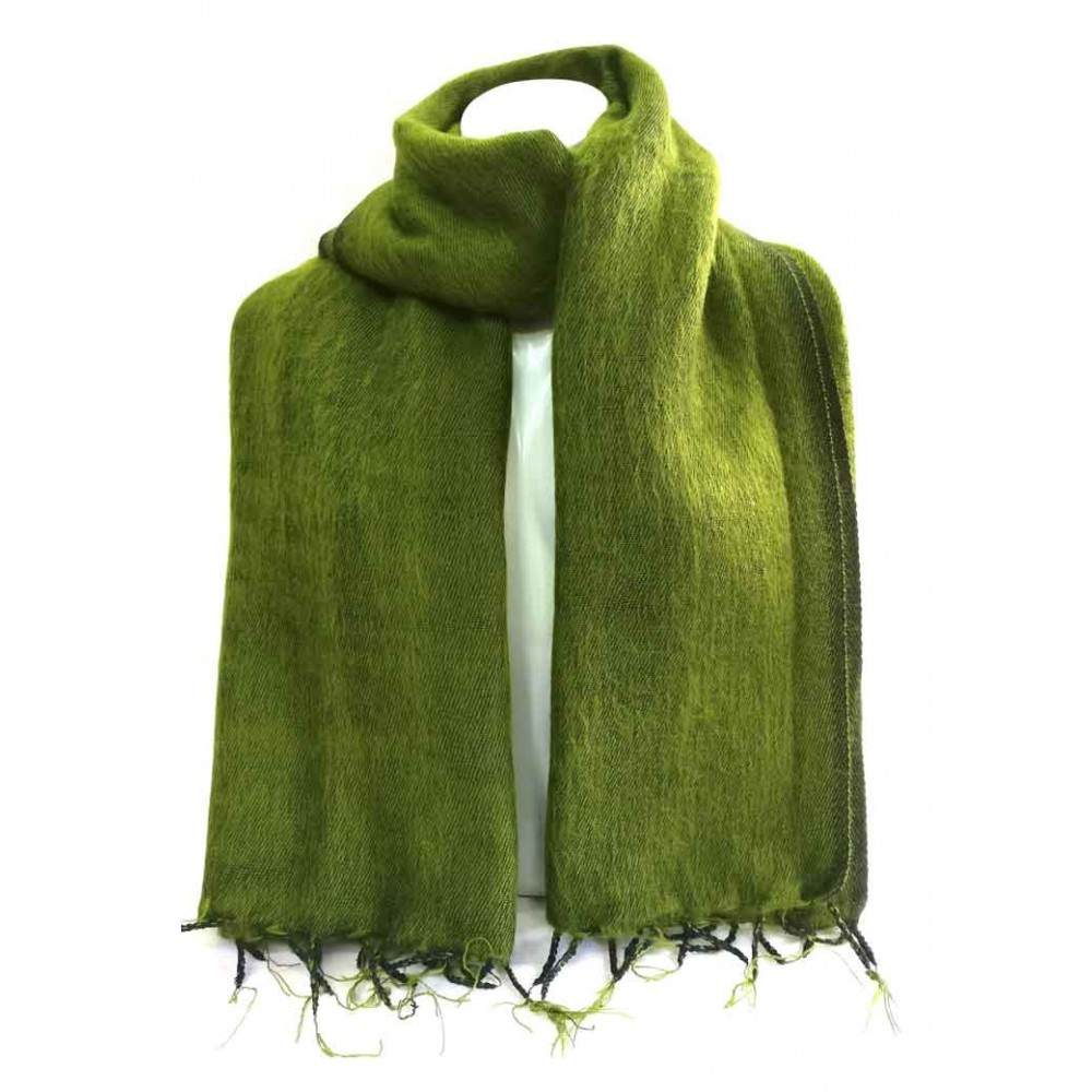 Green Woolen Plain Shawl