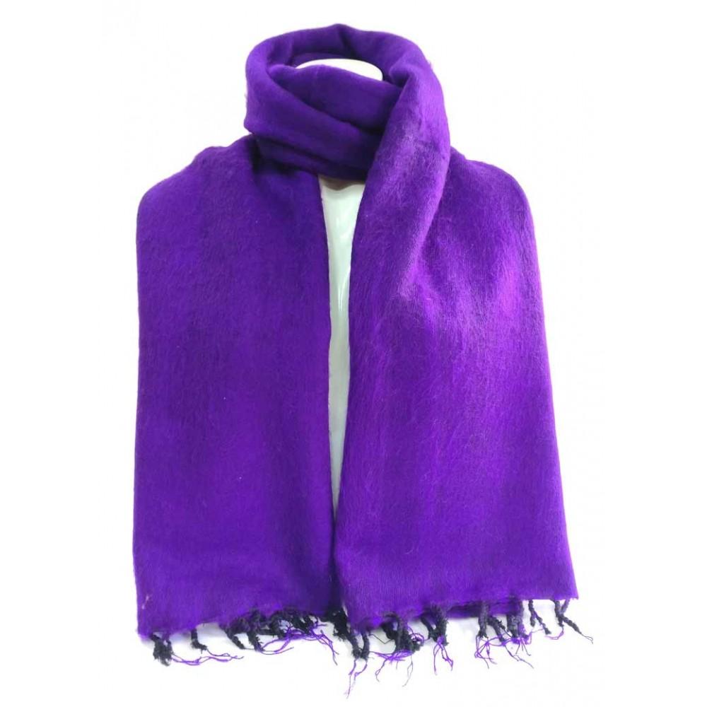 Purple Woolen Plain Shawl