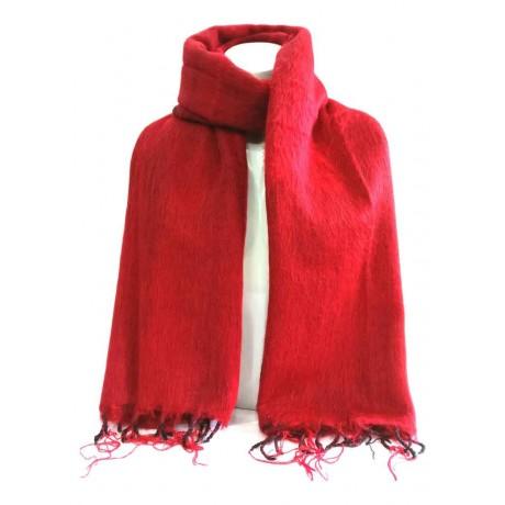 Red Woolen Plain Shawl