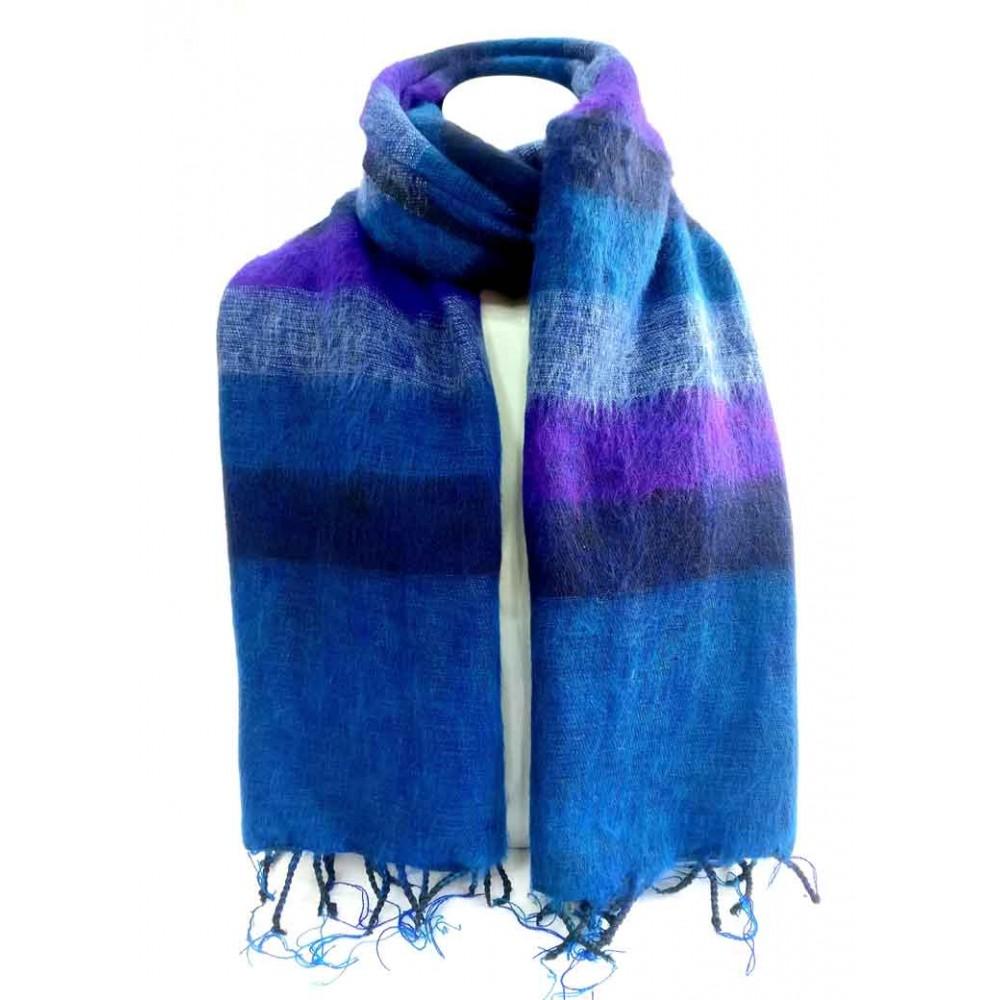 Handmade Woolen Blue Strive Shawl