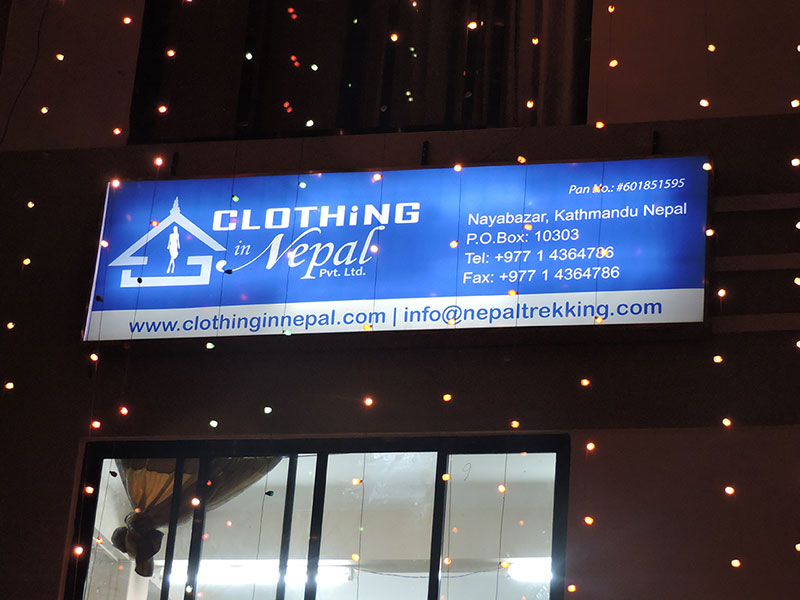 Clothing in Nepal Building