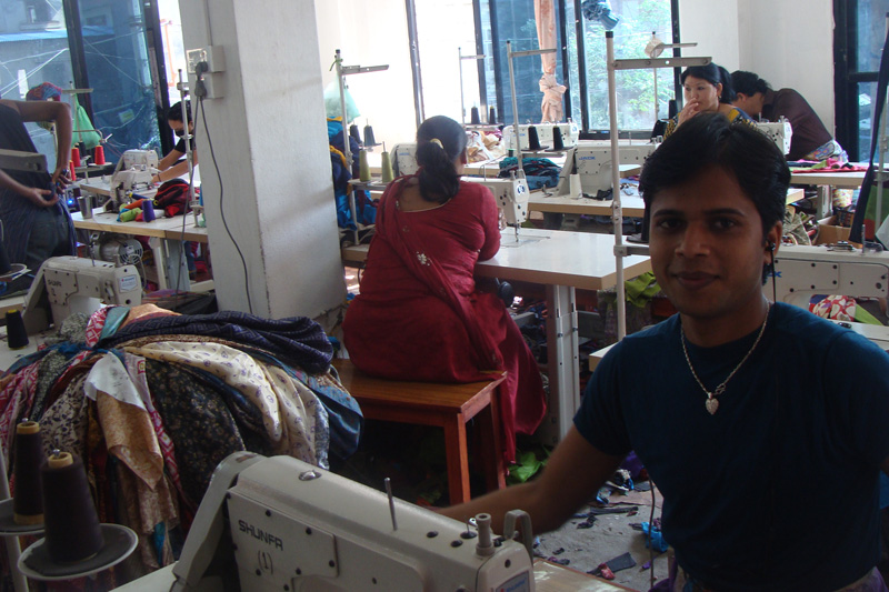 Clothing in Nepal Factory View