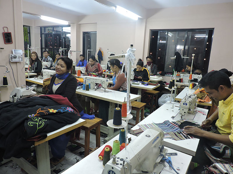 Clothing in Nepal Factory Inside