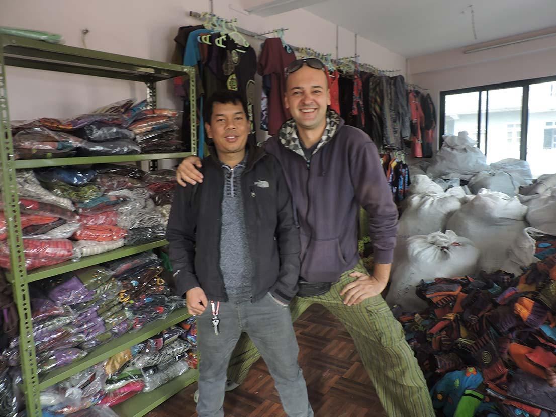 Hari Tamang & Mr Mario @Nepal Clothing Showroom