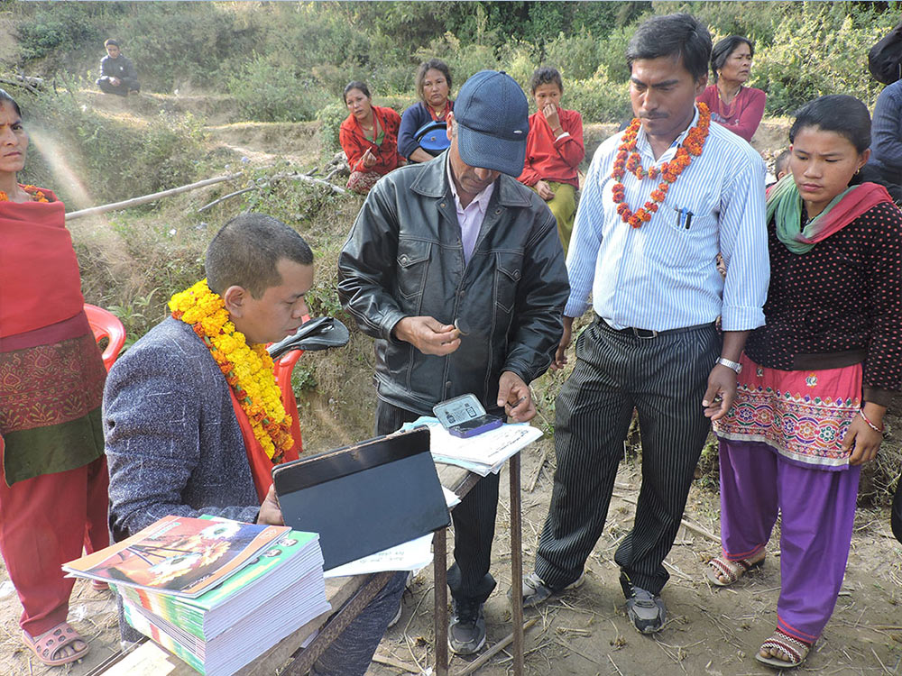 Stationary distribution by Clothing in at Devisthan School, Madanpur, Nuwakot as a part of Corporate social Responsibility